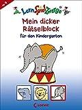 Mein dicker Rätselblock für den Kindergarten (LernSpielZwerge - Sammelblock)