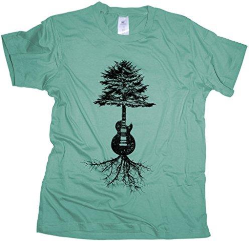Guitar Roots - Herren T-Shirt | Gitarrist Rock Band Gitarre-used_wasabi-xl
