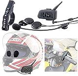 Callstel Helm Kopfhörer: Motorrad-Intercom-Headset mit Bluetooth, Fernbedienung, 1km Reichweite (Motorrad Kopfhörer)