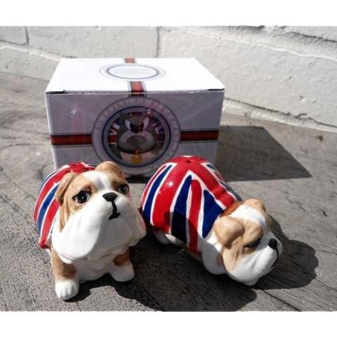 Sale & Pepe a forma di Bulldog con bandiera del Regno Unito Union Jack - confezionati