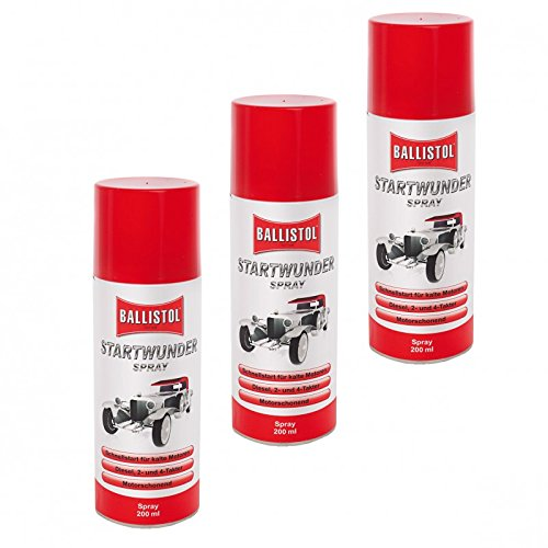 BALLISTOL Startwunder 3 Ds. Spray 200 ml 25500 Startpilot Startspray Starthilfe