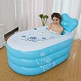 sunjun & aufblasbare Badewanne dicker Erwachsenen Badewanne Faltbar Bad Kind Aufgeblasen Pool Umweltschutz PVC blau