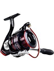 Bobine de pêche KastKing Sharky II - Bobine de rotation lisse - 48,5 Lb Fibre de carbone Max Drag - 10 + 1 Roulements à billes supérieurs - Engrenages en laiton - Qualité supérieure à un prix abordable!