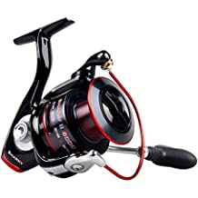 KastKing Sharky II Fishing Reel - Smooth Spinning Reel - 48.5 Lb de fibra de carbono Max Drag - 10 + 1 Superior Ball Bearings - Brass Gears - ¡Calidad superior a un precio asequible!
