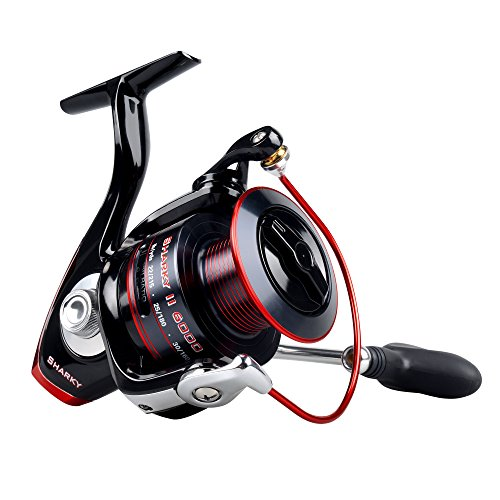 KastKing Sharky II Fishing Reel - Smooth Spinning Reel - 48.5 Lb de fibra de carbono Max Drag - 10 + 1 Superior Ball Bearings - Brass Gears - ¡Calidad superior a un precio asequible!