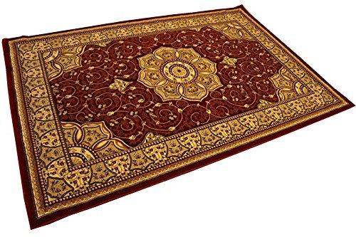 Prestige Zeitgenössisches Blumen Hand geschnitzt super dick Design 3005–Rot 240x 330Teppich