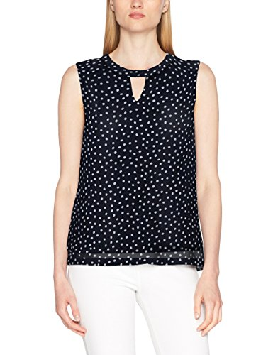 s.Oliver Damen Top 5706342582, Blau (Summer Navy AOP 58A2), 46