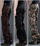 semen Herren Cargohose Herren Vintage Traveler Trousers Relaxed Hose cargo pants Loose Fit Armee-Kampf-Hosen Kampfhose