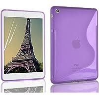 Morado S Line Wave Soft TPU Gel Back Case Cover Skin para Apple iPad Mini 2