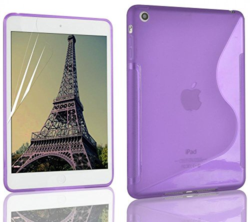 Lila S Line Wave Soft TPU Gel Back Case Cover Skin für Apple iPad Mini 2 Line Wave Tpu Case