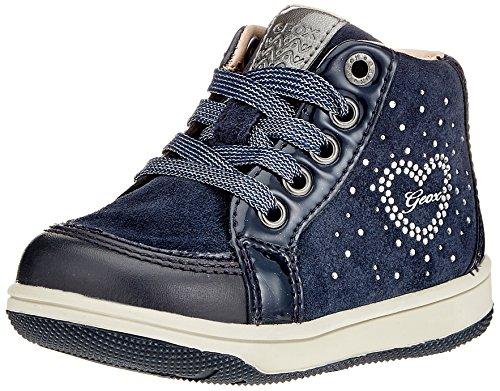 Geox Baby Mädchen B New Flick Girl D Sneaker, Blau (Navy), 25 EU