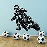 yaonuli Racing Motocross Bike Sports Boy Vinyle Sticker Mural Autocollant Amovible 75x57cm