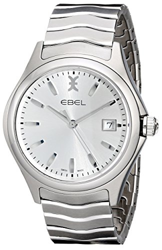 EBEL-Mens-1216200-Analog-Display-Swiss-Quartz-Silver-Watch