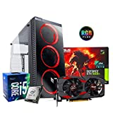 Pc desktop gaming completo Intel i5 7400 3.5ghz / Asus Gtx 1050 Cerberus Gaming 4gb Ddr5/ Ram Ddr4 8gb/ Ssd 120gb + Hdd 1tb / Wifi - Windows 10/ Computer da gaming assemblato/Pc gaming i5