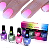 4x farben Thermo Effekt Nagellack Farbwechsel Color Changing Nail Polish