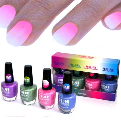 4x farben Thermo Effekt Nagellack Farbwechsel Color Changing Nail Polish WoW! (Temperatur Limit)