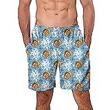 ODJOY-FAN Costume da Bagno Uomo, Pantaloncini Uomo Estate Nuotare Tronchi Veloce Spiaggia Casuale Graffiti 3D Stampato in Spiaggia Pantaloni Pantaloni e Calzoncini Hawaiana Mare Piscina