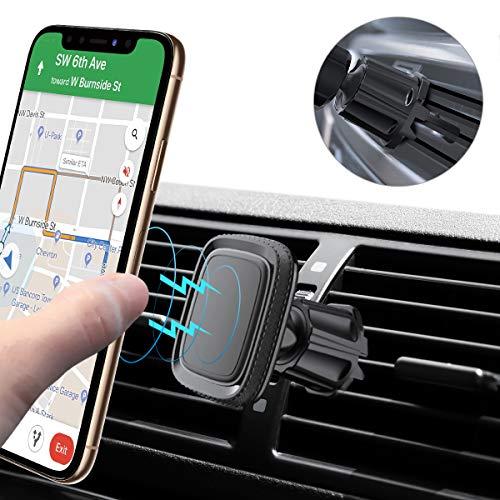 Miracase Handyhalterung Auto Magnet, Universal 360° Drehbarer KFZ Smartphone Halterung Lüftung 6 Magnete kompatibel mit iPhone XR/XS/XS Max/X/8/8+ Galaxy S10 Plus/S10/Note 9 Schwarz (Schwarz) - Magnetisches Iphone-halterung