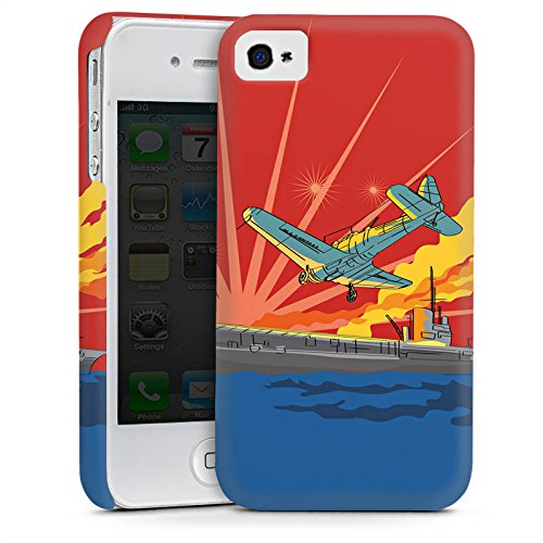 Apple iPhone 5s Housse Étui Protection Coque Avion Bateau Mer Cas Premium mat