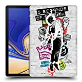 Head Case Designs Offizielle 5 Seconds of Summer Catchfire Sticker Bomb Ruckseite Hülle für Samsung Galaxy Tab S4 10.5 (2018)