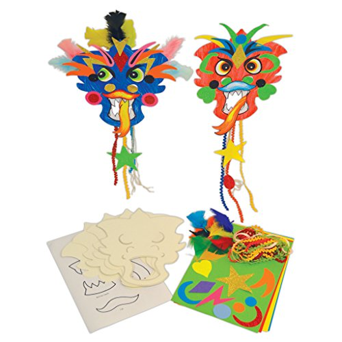 0Stück Chinese New Year Dragon Masken ()