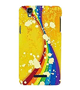 Curtains Pattern in A Yellow Background 3D Hard Polycarbonate Designer Back Case Cover for YU Yureka::Micromax Yureka AO5510
