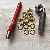 Öseneinschlagset - 50 Stück 2-teilige Rundösen Messing 12mm + passendes Werkzeug