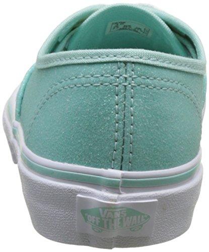 Vans Uy Authentic, Scarpe da Ginnastica Basse Bambina Blu (Glitter And Iridescent Blue/true White)