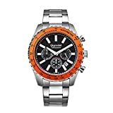 Gigandet Herren Uhr Chronograph Quarz mit Edelstahl Armband G28-006