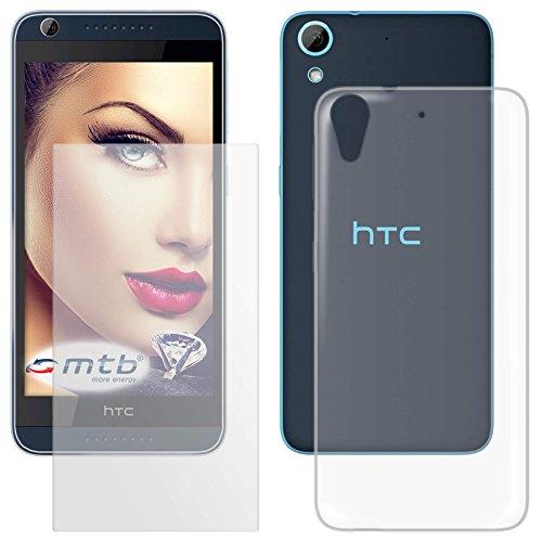 mtb more energy® Schutzglas & Schutzhülle für HTC Desire 626 / 626G+ / 626G Dual SIM (5.0'') | transparent | Tempered Glass Glasschutz TPU Case