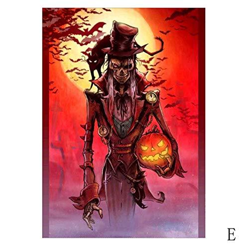 VICKY-HOHO Halloween 5D Stickerei Gemälde Strass geklebt DIY Diamant Malerei (Strass Hexe Kostüm)