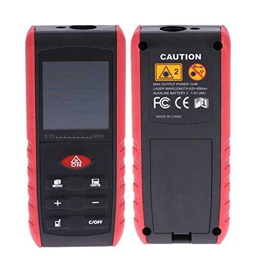 zhuotop Mini Handheld Laser Distanzmessgerät LCD Distance Meter Hoher Präzision Entfernungsmesser Digital 60m Range Finder Fläche Volumen Messen mit Winkel Hinweis