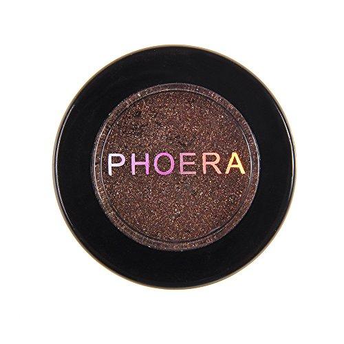 SMILEQ PHOERA Glitter Schimmernde Farben Lidschatten Metallic Eye Cosmetic (N)