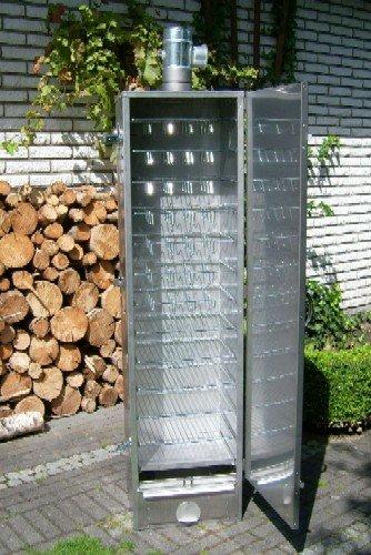 SMOKI: ISOLIERTER Räucherofen 85x39x33cm aus V2A-Edelstahl