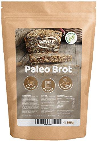 Paleo Brot Brotbackmischung Fitnessbrot - Eiweißbrot - Wehle Sports - Low-Carb, Glutenfrei, hefefrei, ohne Getreide hergestellt in Deutschland (295g) (Paleo Olivenöl)