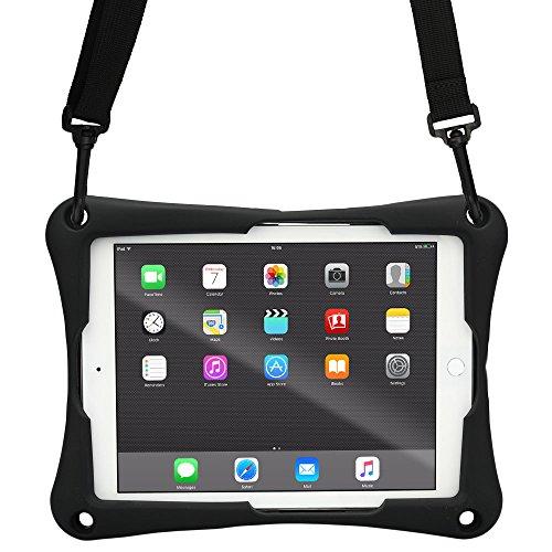 10 - 10.5'' Tablet custodia, COOPER TROOPER 2K Custodia Protettiva per Tablet Robusta e Resistente con Tracolla e Supporto Integrato per 10 - 10.5'' pollici tablet (Nero)