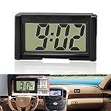 okdeals Digitale Uhr für den Innenbereich des Autos, für Schreibtisch, Armaturenbrett, LCD-Display, selbstklebend