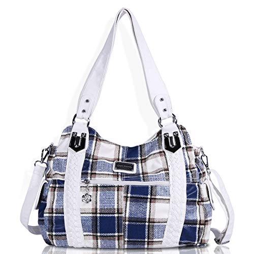 Angel Barcelo Geldbörsen und Handtaschen für Frauen Damen Umhängetasche Designer Tie Dye Satchel Fashion Totes für Mädchen (0044-1B Blue) -