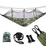 NATUREFUN Mosquitero Hamaca Ligera Viaje y Camping | 300kg de Capacidad de Carga, (275 x 140 cm) Transpirable Nylon de Paracaídas| para Jardín...