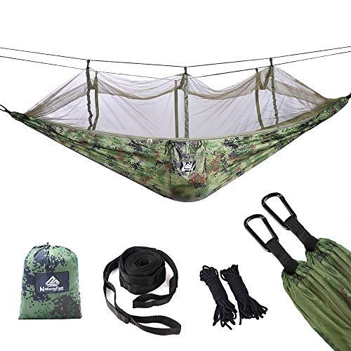 NATUREFUN Hamac de Voyage Ultra-léger Camping avec moustiquaire  300 kg de capacité de Charge,...