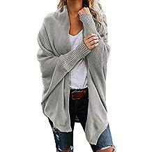 ZODOF Mujeres Floja Ocasional Suéter de Punto Pullover Womens Off The  Shoulder Sweater Casual de Punto 819ad59ce1a4