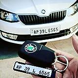 SHOPEWELL-Gel Number Plate Keychain For CAR & BIKE