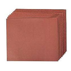 Silverline 696982 Korund-Schleifpapier, 10-tlg. Satz 4 x 60er, 2 x 80er , 120er u. 240er Körnung