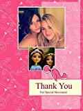 """Personalized Thank You Friend - Picture Photo Greeting Card - Pink colour(6"""" x 8"""") - 2 Pcs"""