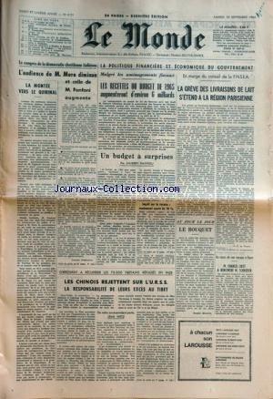 MONDE (LE) [No 6121] du 19/09/1964