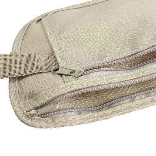 51eAXeWQ0bL. SS500  - Travel Money Belt for Security Pouch Passport Cash Money Holiday Traveling