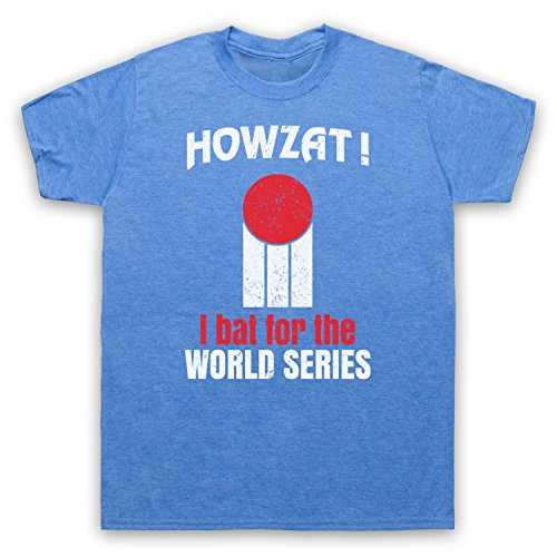 Howzat I Bat For The World Series As Worn By Dennis Lillee Herren T-Shirt Jahrgang Blau