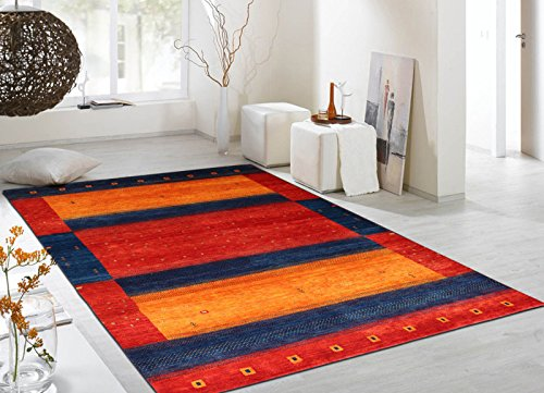 X6'7 (Persian Designs Exklusive Bereich Gabbeh Oriental Joppe handgeknotet Rugs & Teppich, Multi, 4'7