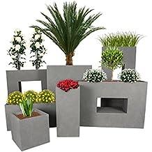 PFLANZWERK® Pflanzkübel TOWER Grau 50x23x23cm *Frostbeständiger  Blumenkübel* *UV Schutz* *