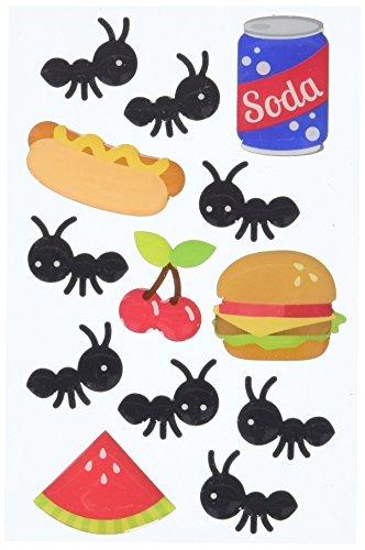 Matrices de pique-nique patriotique Sprinkles brillant émail stickers-picnic fourmis